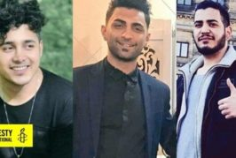 Iran supports the death sentence for three young men.