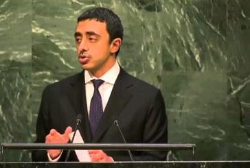 الإمارات: إيران لم تتوقف يوماً عن العبث في المنطقة